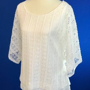 White Lacey Tunic. Women's 18/20 Top